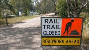 Cruise along the upgraded rail trail to Huon Reserve